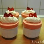 Gefrorene Erdbeer Soufflés