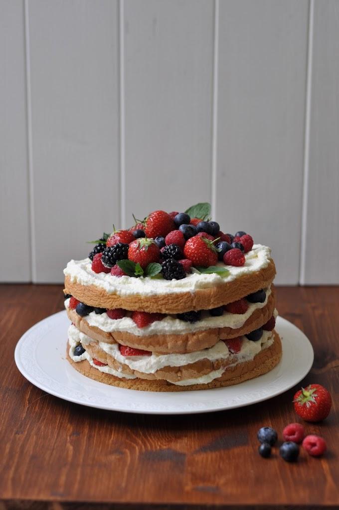 Beeren Schicht Torte Birds Like Cake Baking Enjoying Sharing