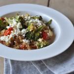 Quinoa Salat mit Feta