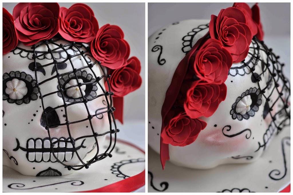 Backen Baking Cake Design Torten dekorieren Decorating Sculpted Cake Geformte Kuchen Day of the Dead Skull Schädel Tag der Toten Mexico