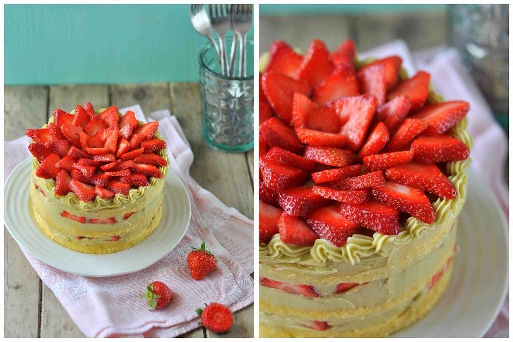 Erdbeeren Pistazien Frühling Sommer backen Zucker Rezept einfach lecker