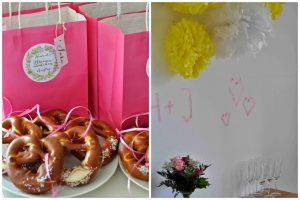 Bachelorette Party Wedding Cupcakes Cookies Care Packages Give Away Butterflies pink flowers