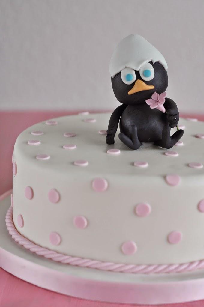Children First Birthday Celebration Cake Girls Calimero Fondant Cake Design