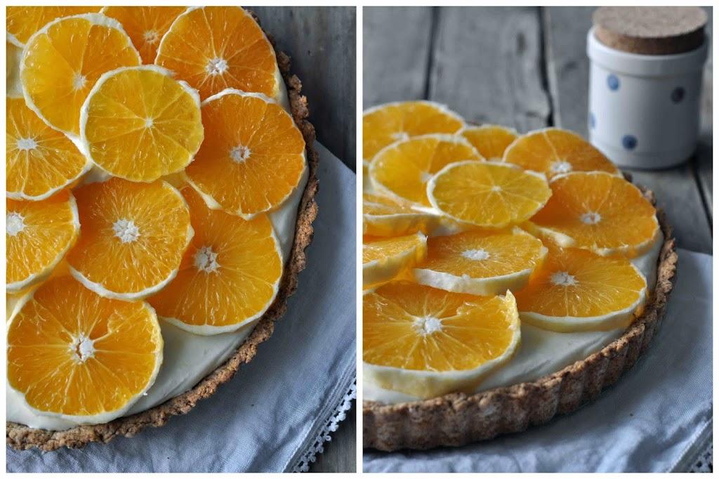 Tarte Citrus Backen baking Lecker einfach Rezept Jogurt Quark Sahne frisch Winter