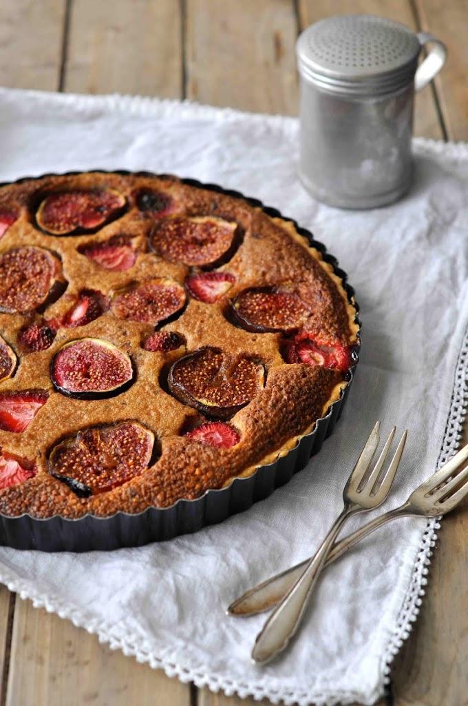 Baking Backen Foodblog Rezept Zürich Einfach Feigen Erdbeeren Pie Tarte Lecker
