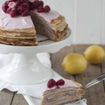Geburtstagsbrunch 2015: Himbeer Crêpe Torte